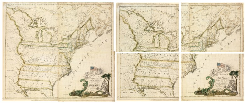 Abel Buell (1742-1822). A New and Correct Map of the United States of North America Layd Down from the Latest Observations and Best Authorities Agreeable to the Peace of 1783. Humbly Inscribed to his Excellency the Governor and Company of the State of Connecticut By their Most Obedient and Very Humble Servant Abel Buell. New Haven, 1784. Sold for $2,098,500 on 3 December 2010 at
