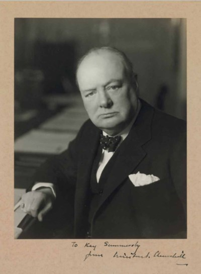 CHURCHILL, Winston S. Photogra