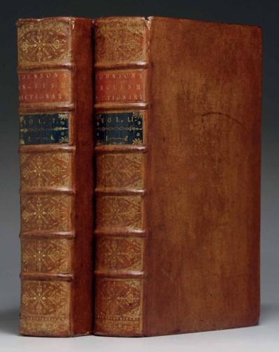 JOHNSON, Samuel. A Dictionary