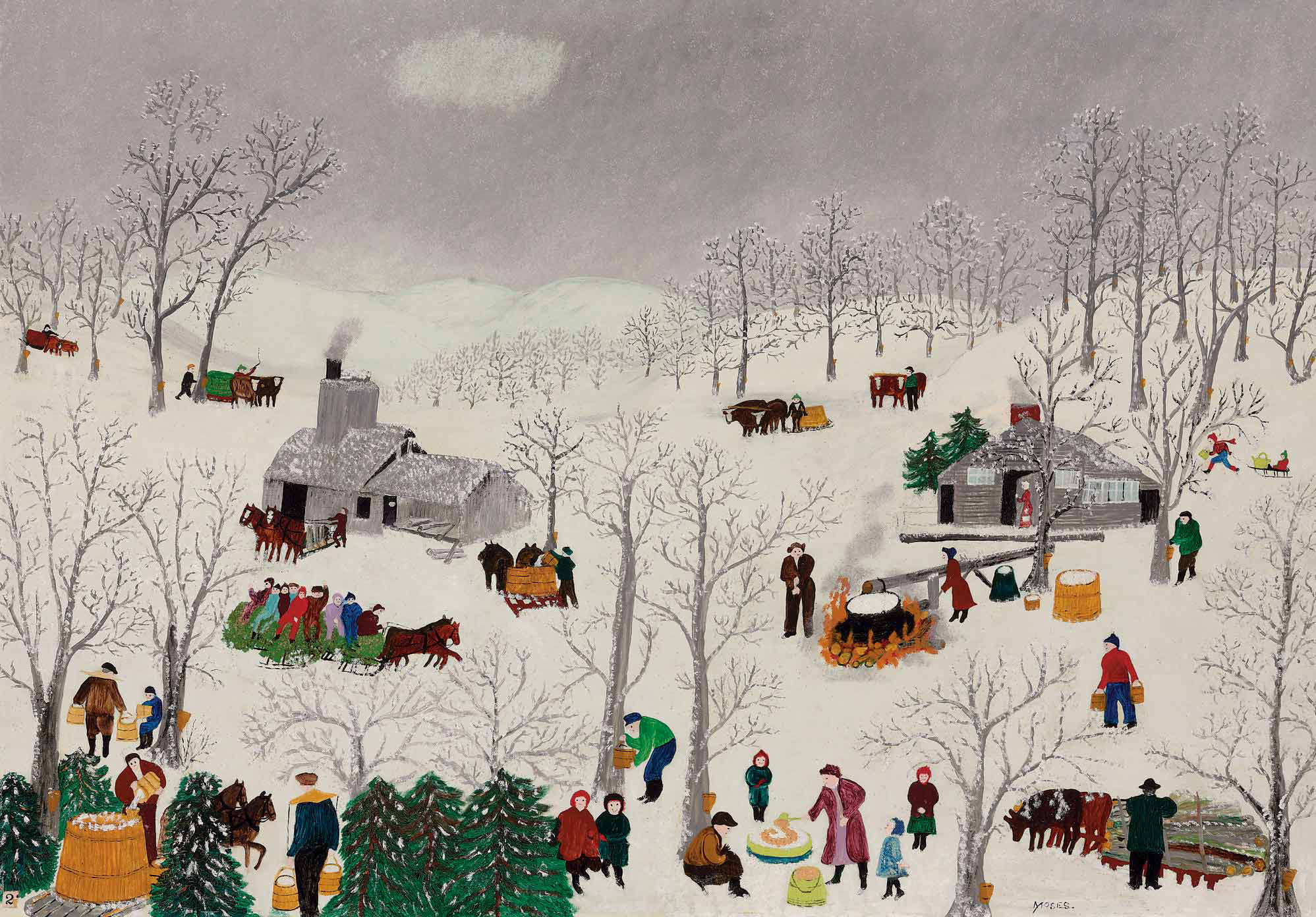 Anna Mary 'Grandma' Robertson Moses (1860-1961) | Sugaring Off | 20th  Century, Paintings | Christie's
