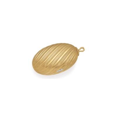 A GOLD EVENING BAG, BY BVLGARI