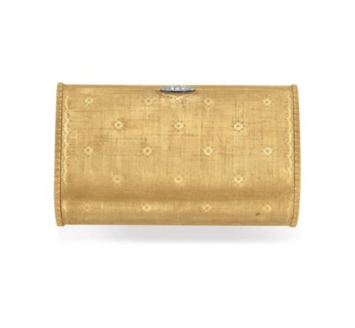 A GOLD AND DIAMOND CASE, BY BU