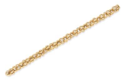 A GOLD AND DIAMOND BRACELET