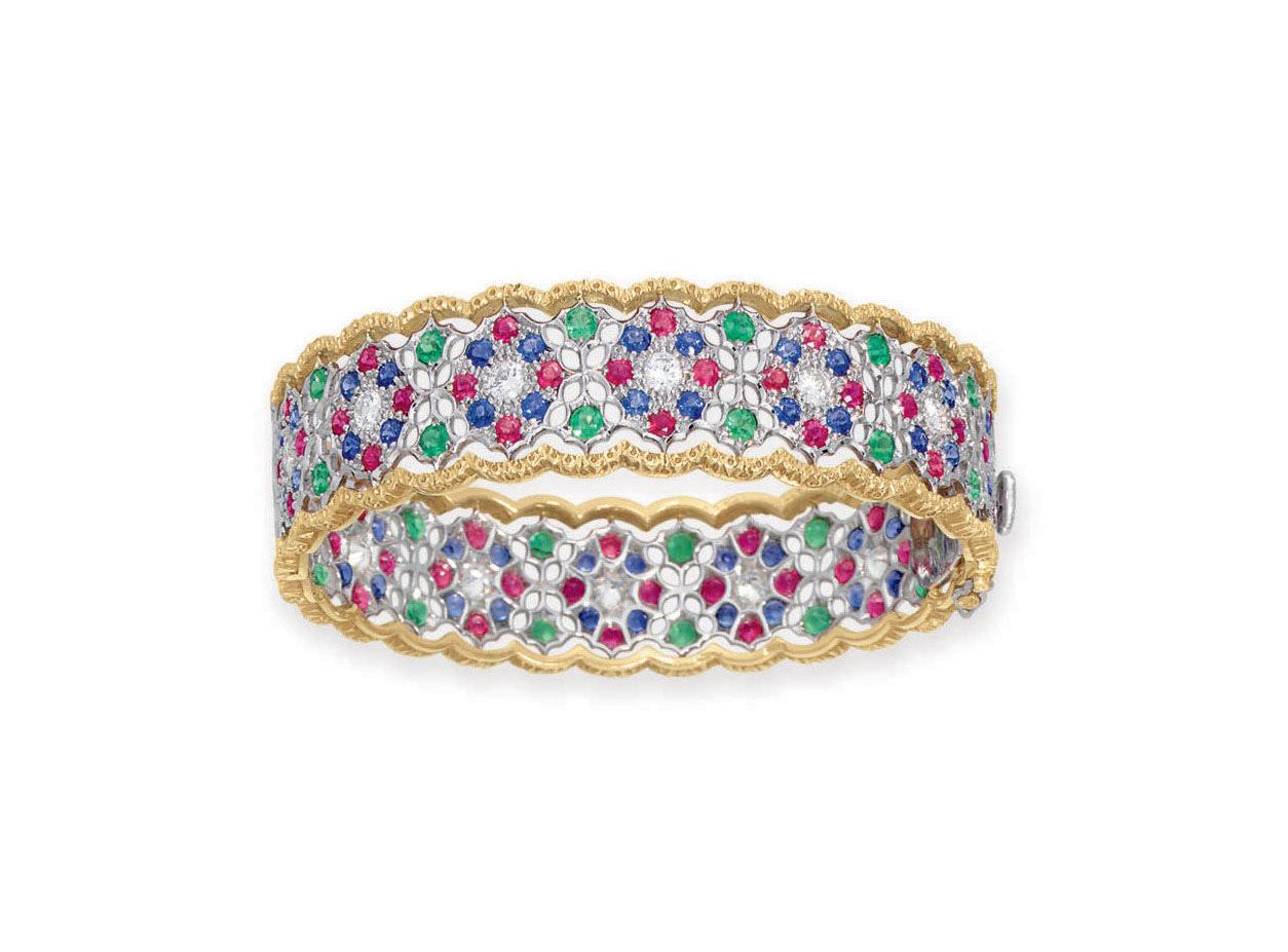 A Multi Gem And Diamond Bracelet By Buccellati Christie S