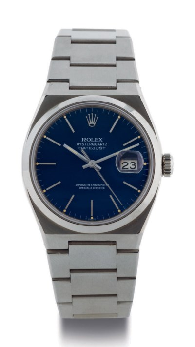 ROLEX. A STAINLESS STEEL QUART