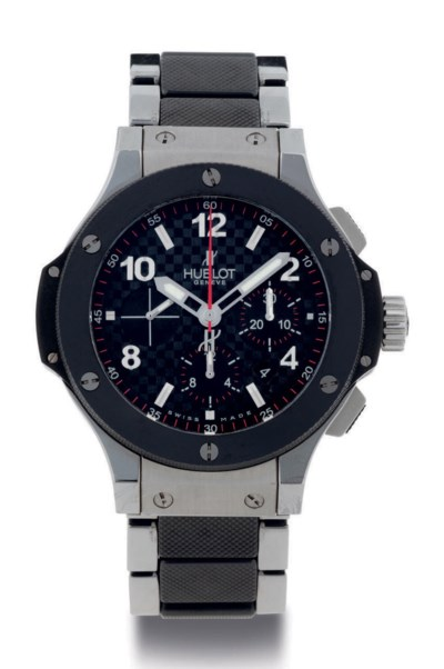HUBLOT. A FINE LARGE STAINLESS