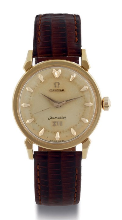 OMEGA. AN 18K GOLD AUTOMATIC W