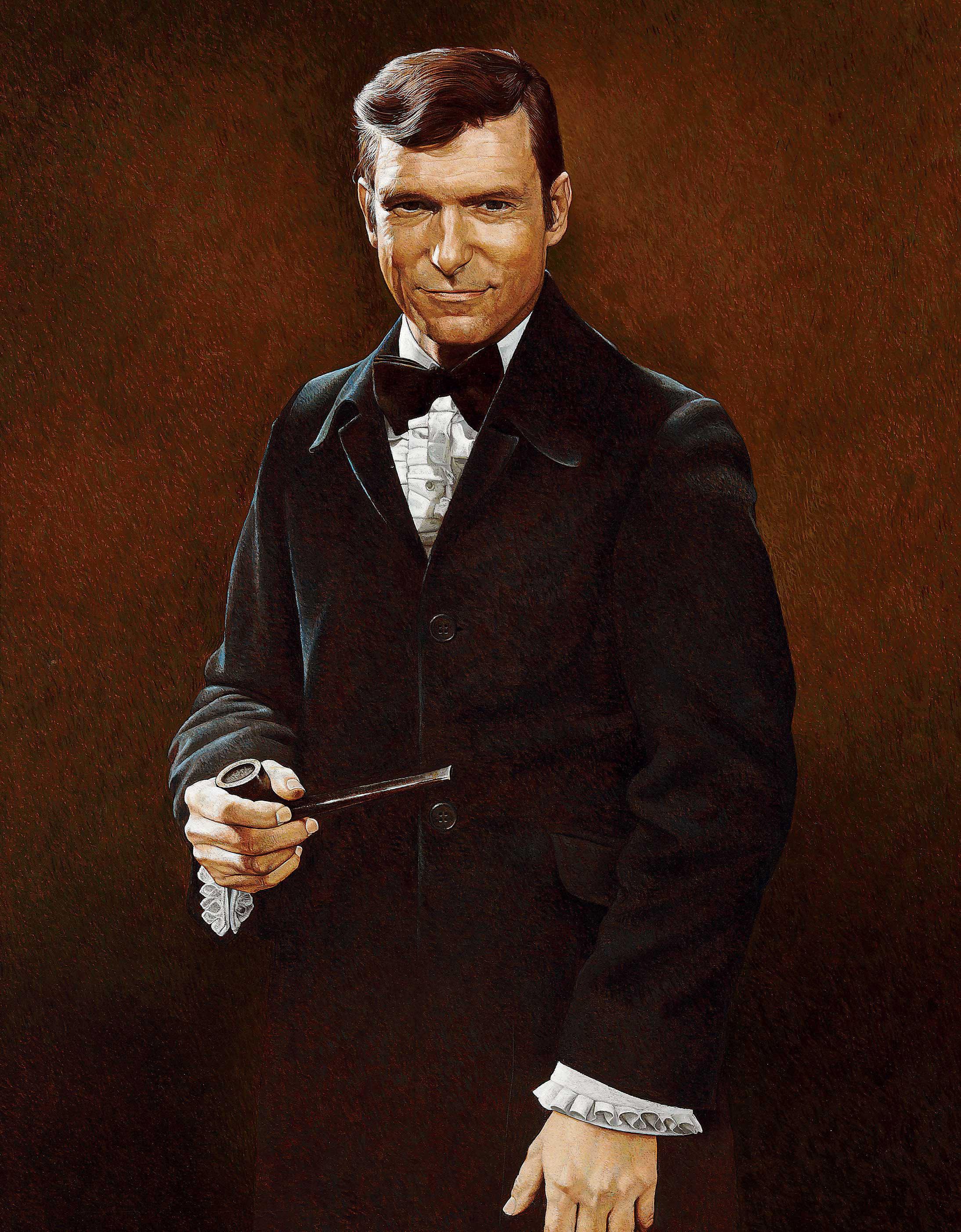 Portrait of Hugh Hefner
