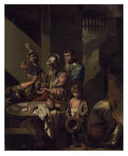 A brawl in a guardroom