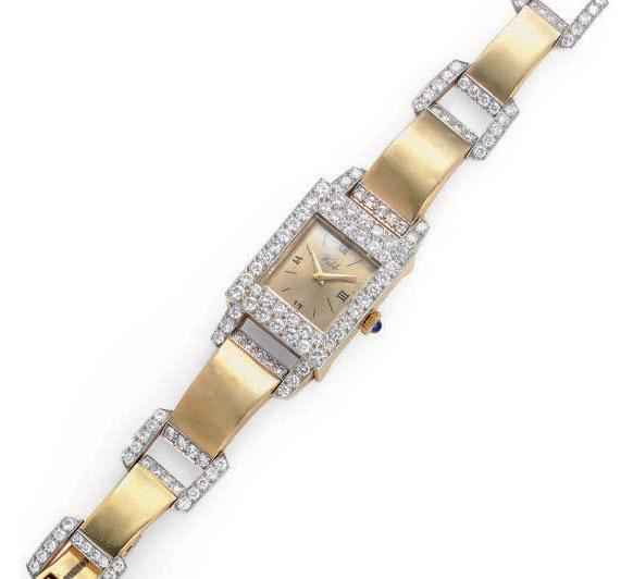 A DIAMOND AND 18K GOLD WRISTWATCH, BY DAVID WEBB