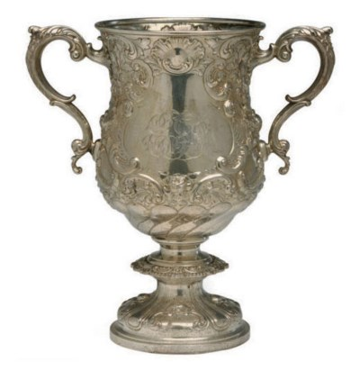 AN AMERICAN SILVER REPOUSSE TR