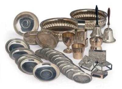 A GROUP OF SILVER AND SILVER-P