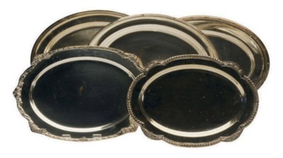 A LARGE GROUP OF SILVER-PLATED