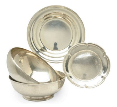 FOUR AMERICAN SILVER SERVING W