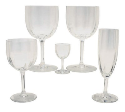 A FRENCH GLASS PART STEMWARE S