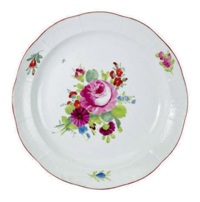 A RUSSIAN PORCELAIN CHARGER PA