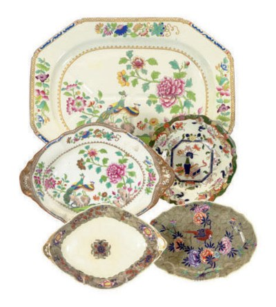 FOUR ENGLISH SERVING PIECES,