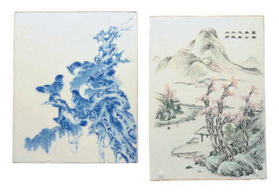 Two Chinese Porcelain Tiles 20th