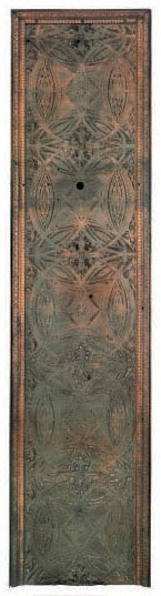 A COPPER-PLATED CAST-IRON PANEL FROM THE CHICAGO STOCK EXCHANGE,