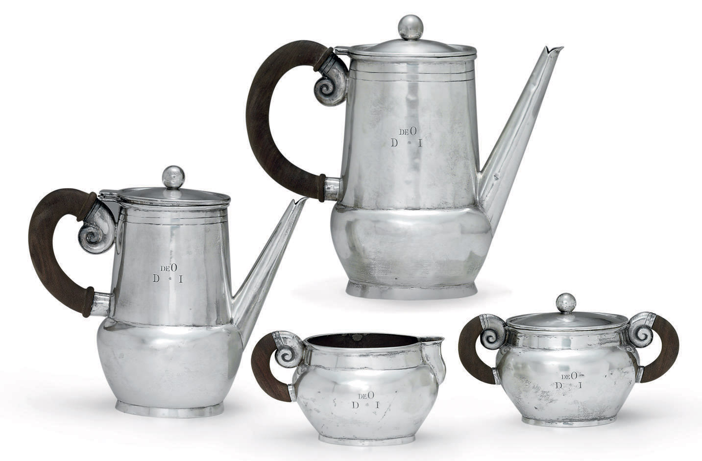A MEXICAN FOUR-PIECE SILVER TEA AND COFFEE SERVICE**