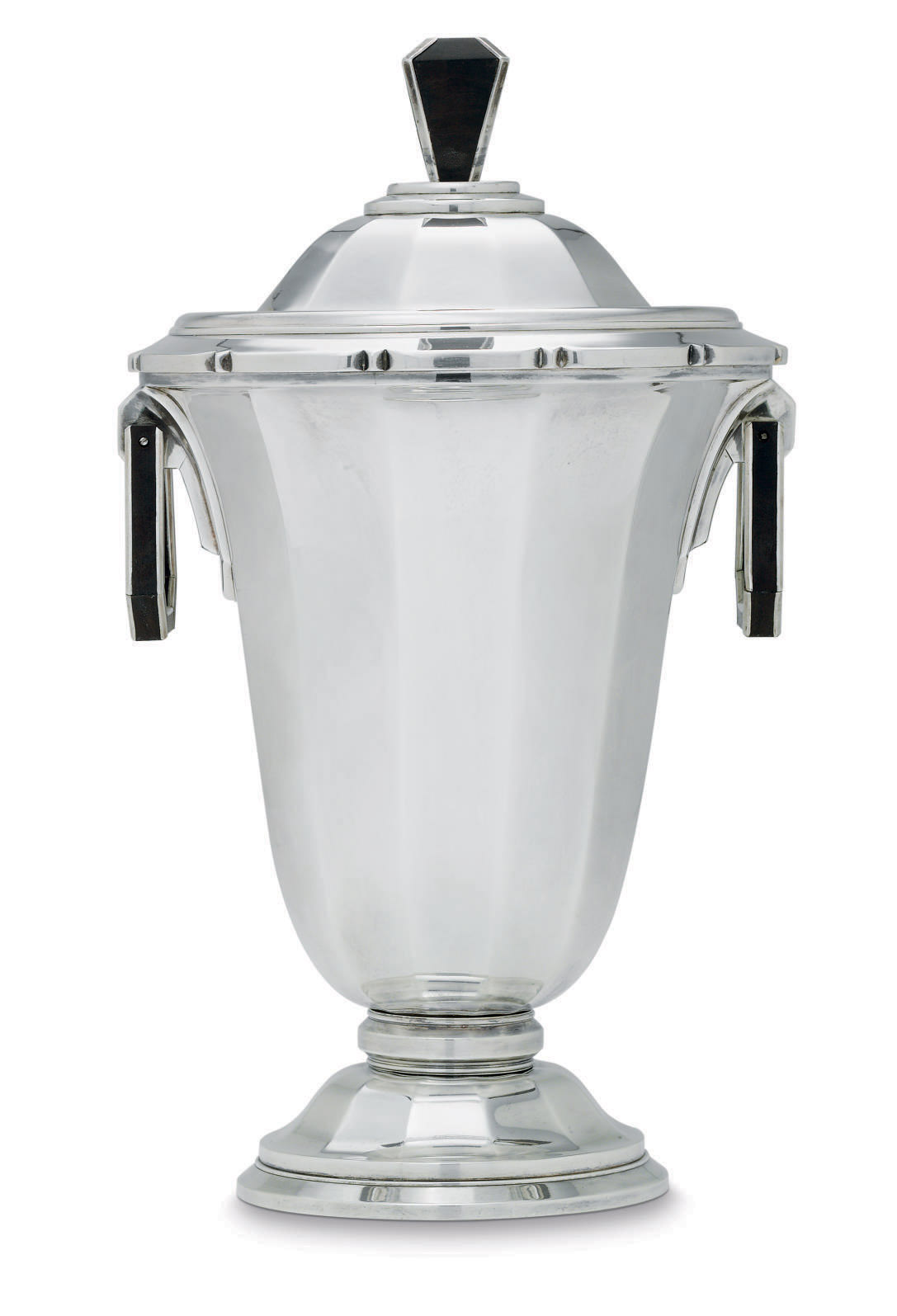 A FRENCH SILVER VASE