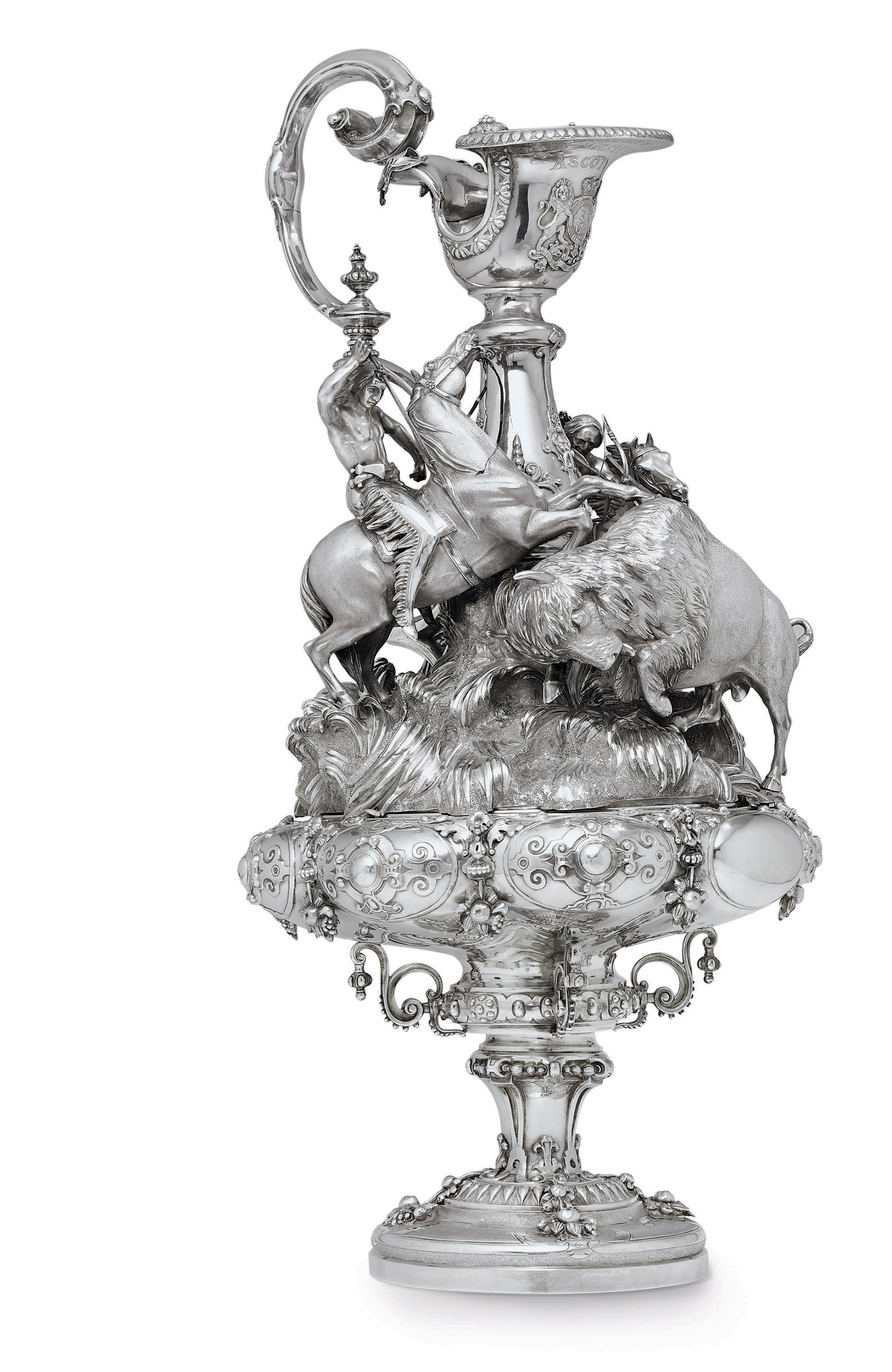 THE QUEEN'S CUP, ASCOT, 1861: A VICTORIAN SILVER TROPHY