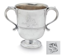 A RARE AMERICAN SILVER CUP OF RACING INTEREST
