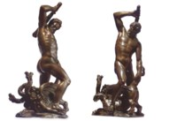 A BRONZE GROUP OF HERCULES AND THE LERNAEAN HYDRA