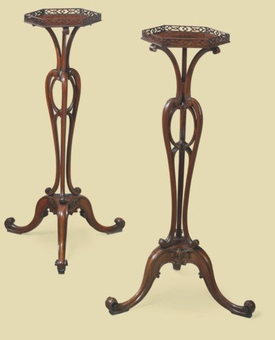 A PAIR OF GEORGE II MAHOGANY T