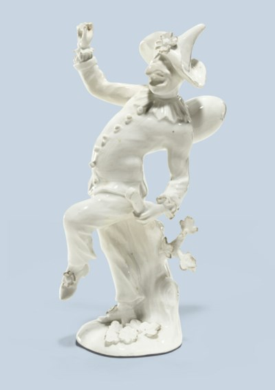 A MEISSEN WHITE PORCELAIN FIGU
