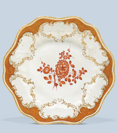 A MEISSEN PORCELAIN PLATE FROM