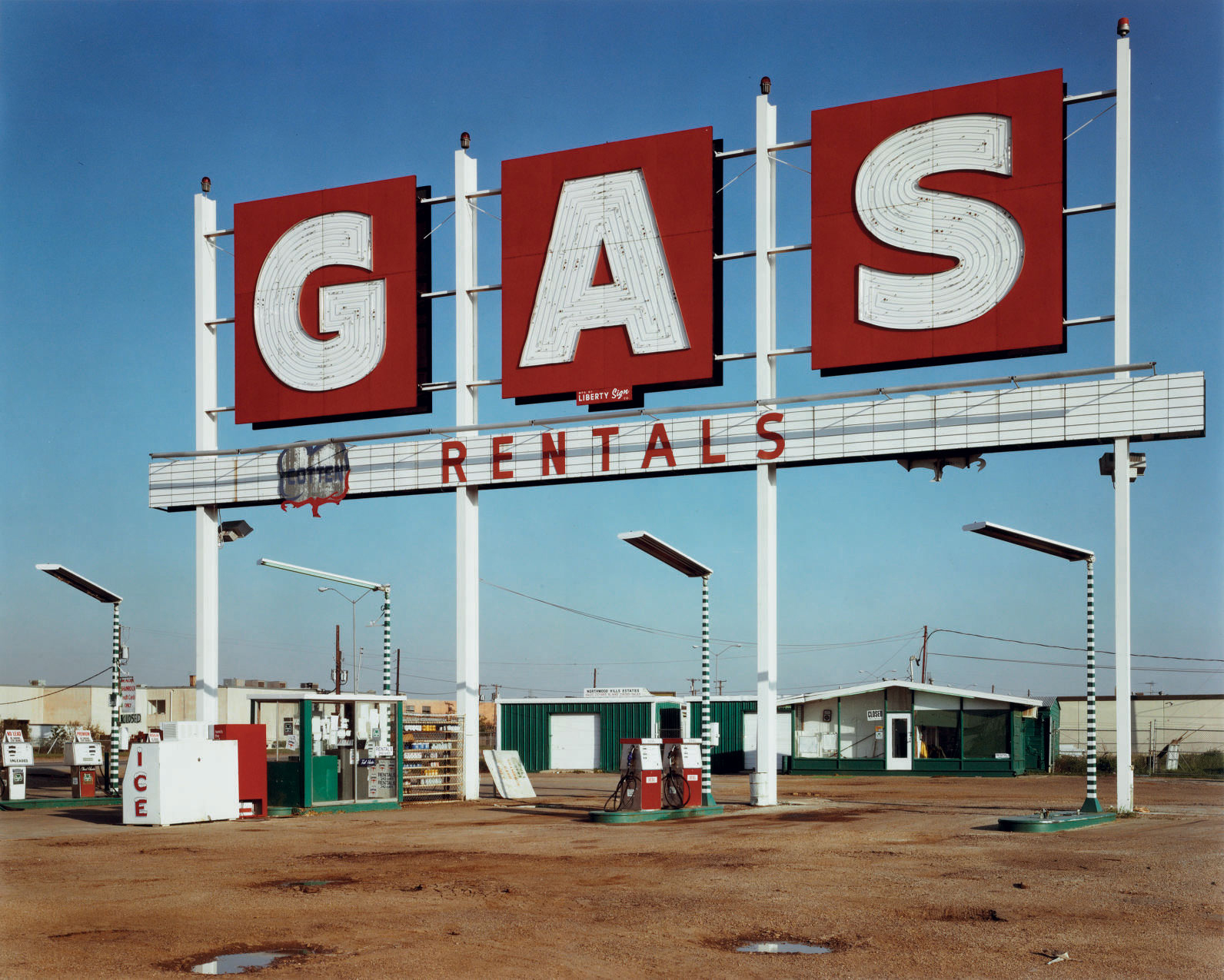 Gas Sign, US 97, Dallas, Texas, 1979
