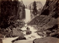 Vernal Fall, 300 ft., Yosemite Valley, 1878-1881