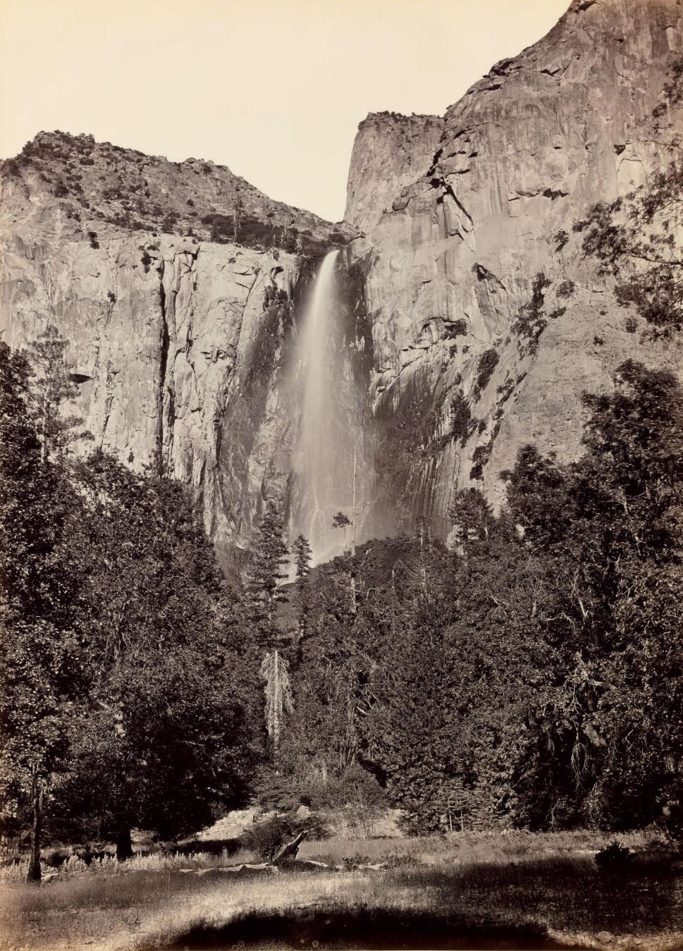 Pohono, Bridal Veil Fall, 940 feet, Yosemite, 1865-66