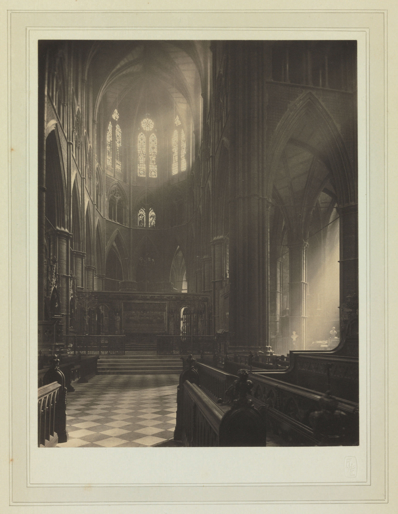 Westminster Abbey: Apse and Altar from Choir, 1911