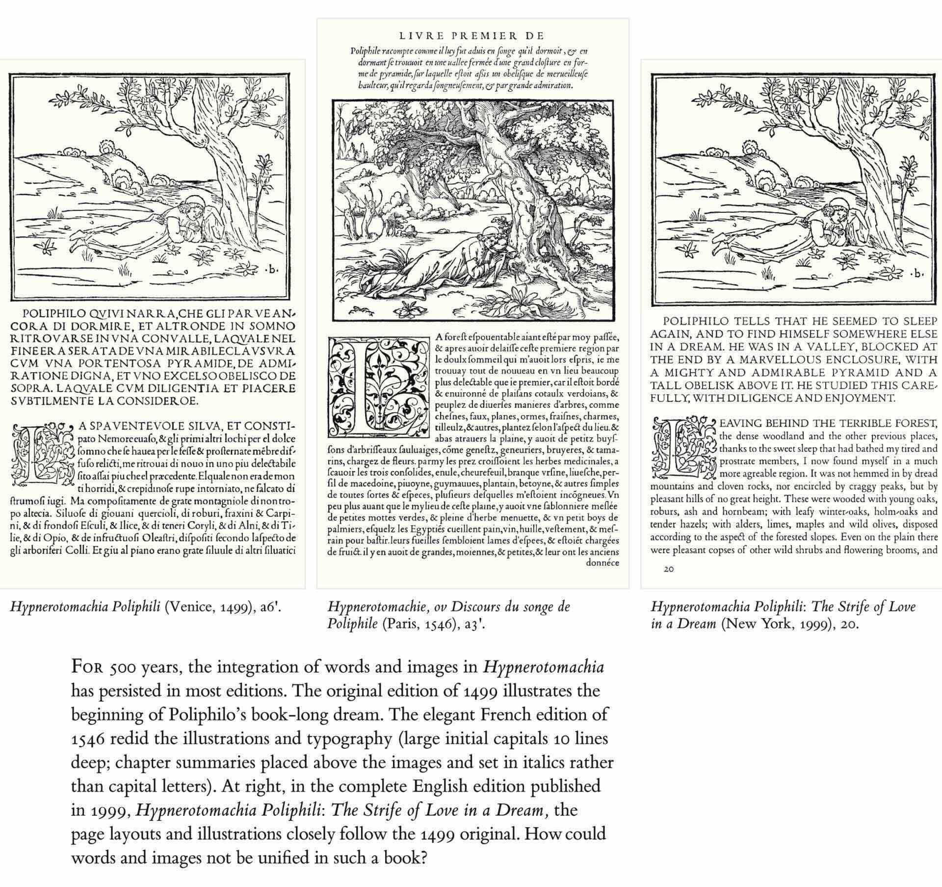 [COLONNA, Francesco]. Hypnerotomachie, ou Discours du songe de Poliphile. Anonymous translation from Latin into French, edited by Jean Martin. Paris: Louis Blaublom for Jacques Kerver, 20 August 1546.