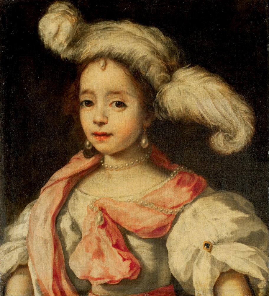 Portrait d'une femme au chapeau à plumes