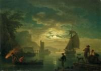 L'entrée du port au clair de lune