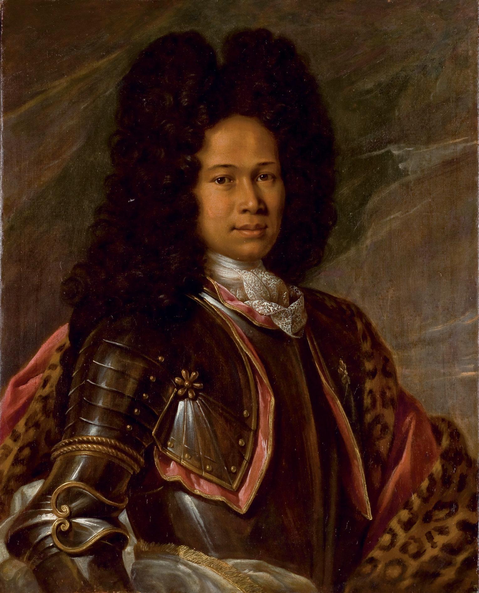 Portrait d'un mulâtre en armure