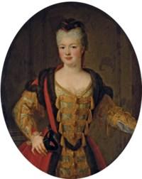 Portrait de Louise-Adélaïde de Bourbon-Conti, dite Mademoiselle de la Roche-sur-Yon, en habit de bal