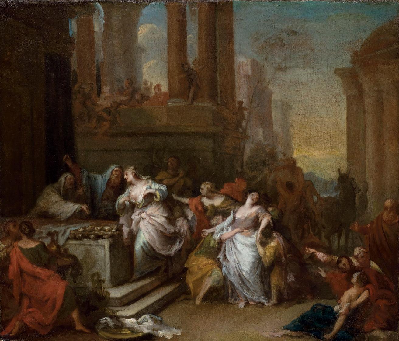 Esquisse d'une scène antique