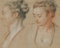 Deux têtes de femmes