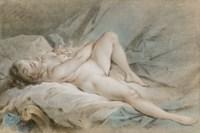 Vénus jouant avec deux colombes