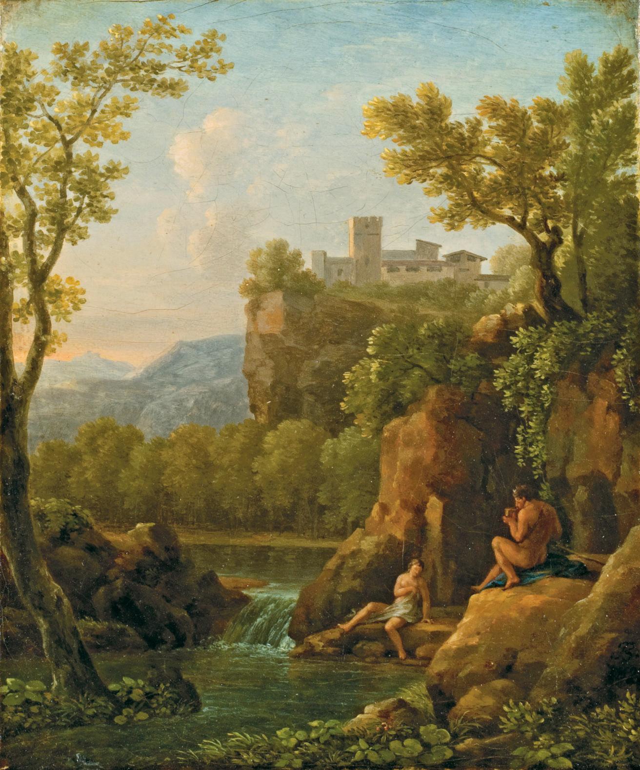 Paysage avec Pan jouant de la flûte pour une nymphe