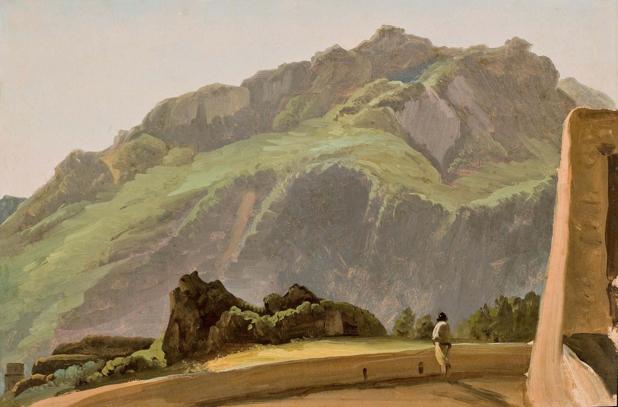 Vue du mont Epomeo sur l'île d'Ischia