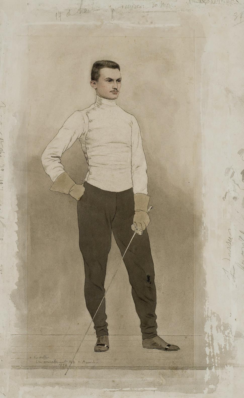Portrait du maître d'armes Kirchhoffer