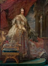 Portrait du roi Charles X en costume de sacre