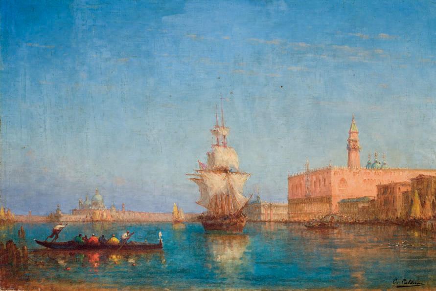 Voilier quittant le quai des Esclavons, Venise