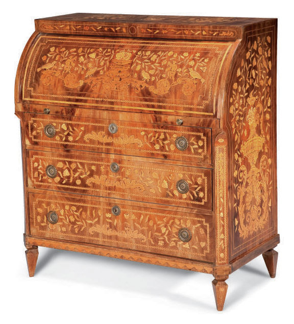 COMMODE SCRIBAN D'EPOQUE NEOCL