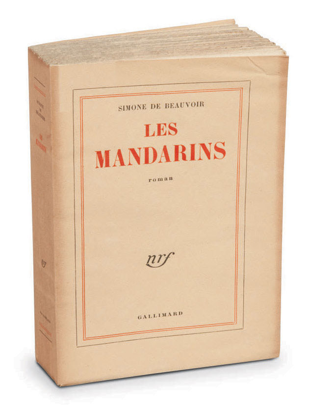 BEAUVOIR, Simone de (1908-1986). Les Mandarins. Paris: NRF, 1954.